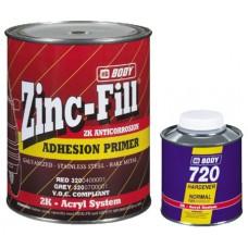 BODY Грунт 320 ZINC-Fill 2К(сер)1л +отв.Н725 0,25Л