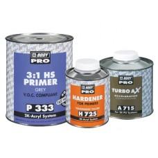 BODY Грунт 333 HS 3+1 3л. 2К серый+отв 725 1л