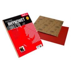 Шлифовальный лист INDASA RHYNOWET Red Line 230x280 мм P100
