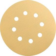 GOLD Шлифовальный круг 125мм P100 8 отверстий